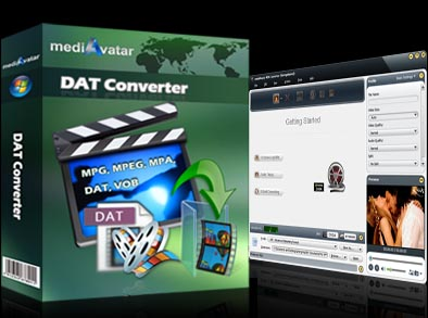 Screenshot wird geladen mediAvatar DAT Converter 6.5.5.0426